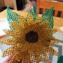 Burlap Sunflower Pick