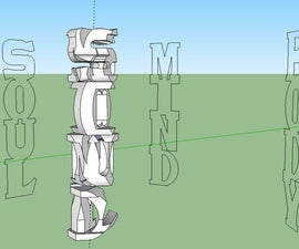 Three Interwoven Words sculpture