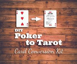 Convert Poker Cards to Tarot Cards