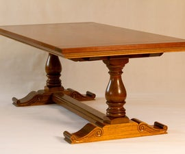 How to Make a French Inspired Trestle Table