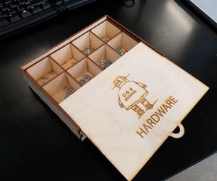 Laser Cut Hardware Organizer