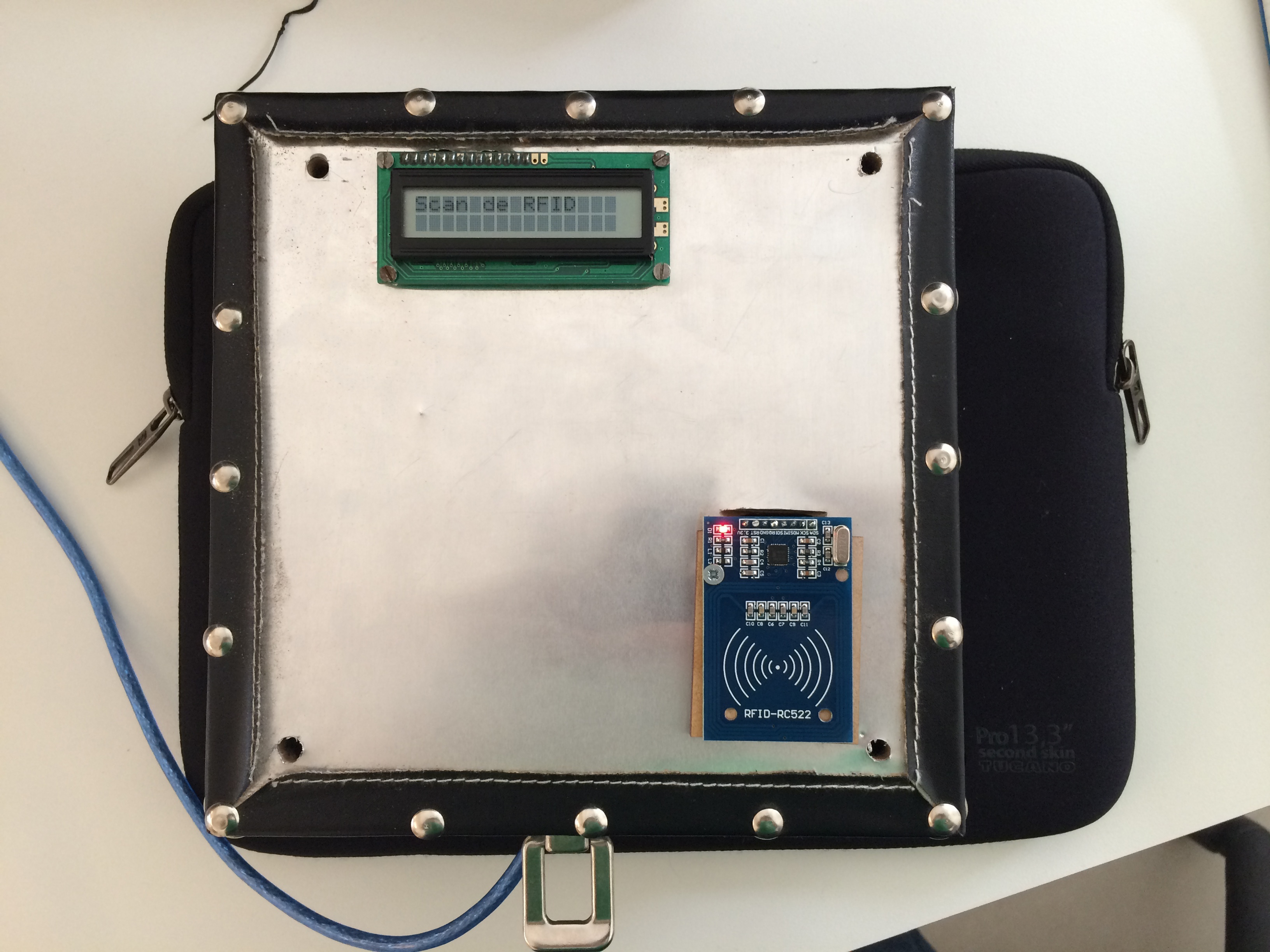 Picture of Arduino + RFID Reader + LCD