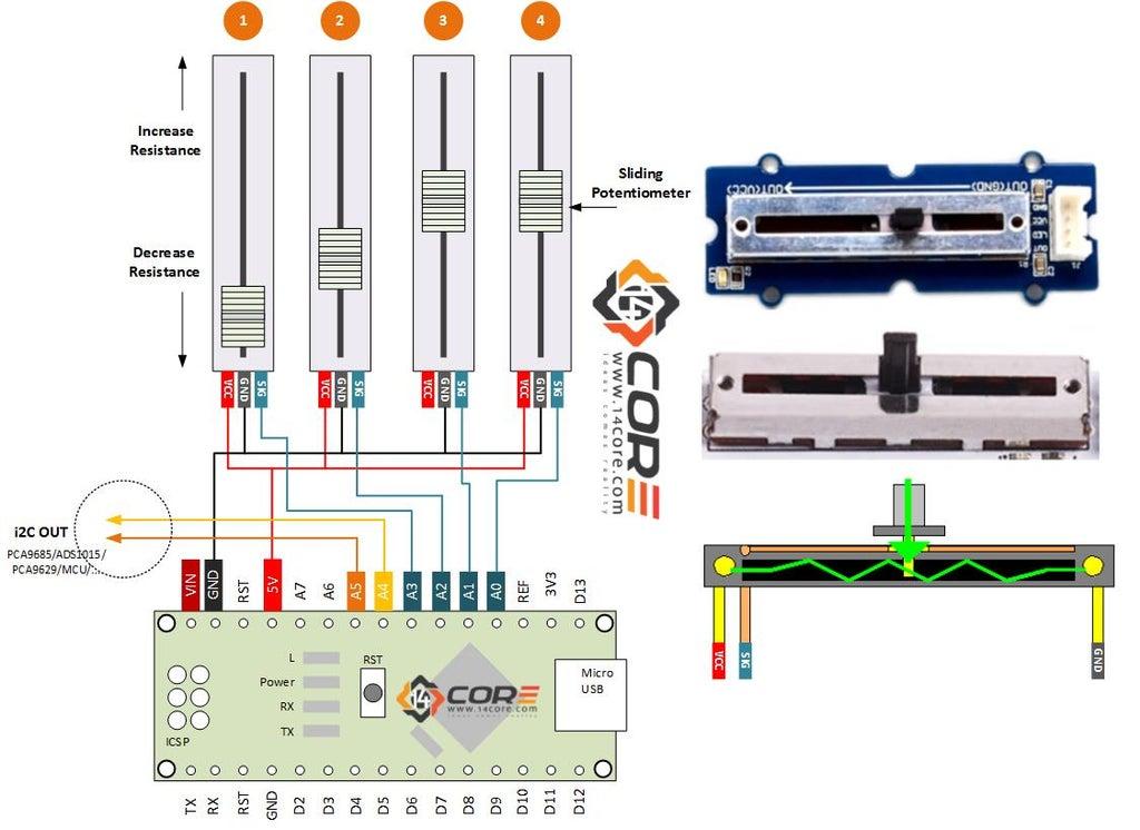 [DIAGRAM_38EU]  Wiring Linear Sliding Potentiometer With Arduino - Instructables   Led Potentiometer Wiring Diagram      Instructables