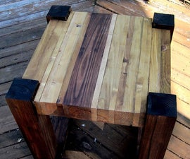 Scrap Wood Side Tables