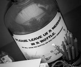 Message in a Bottle, a Wedding Guestbook Alternative.