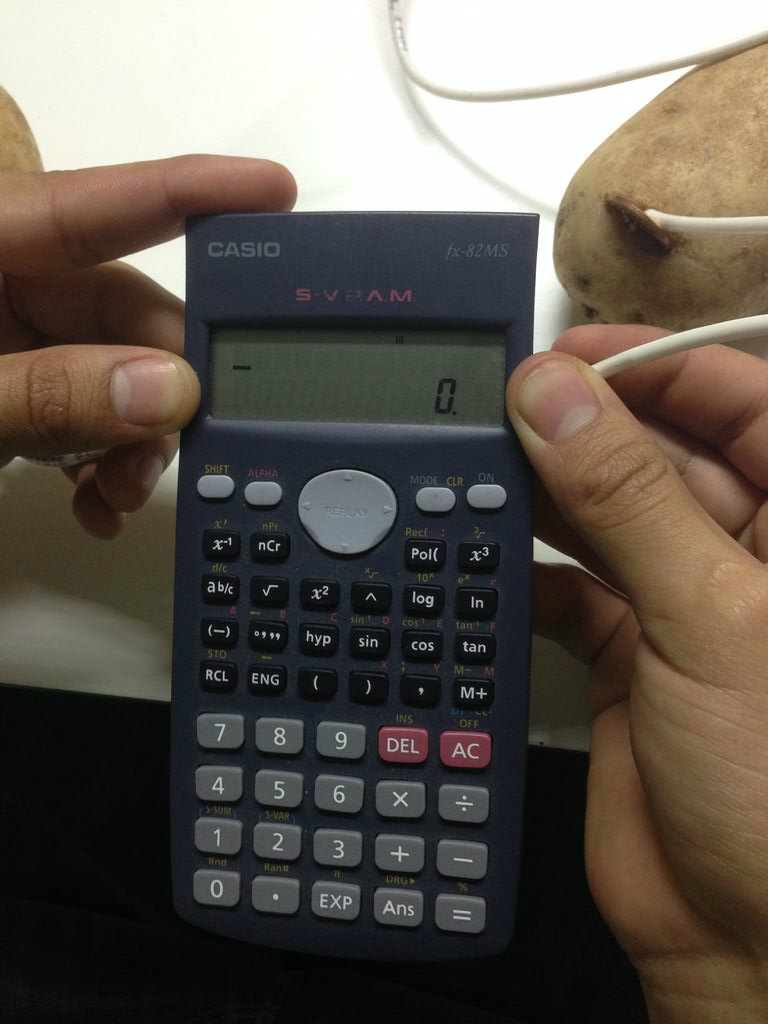 Picture of Como Encender Una Calculadora Con Papas