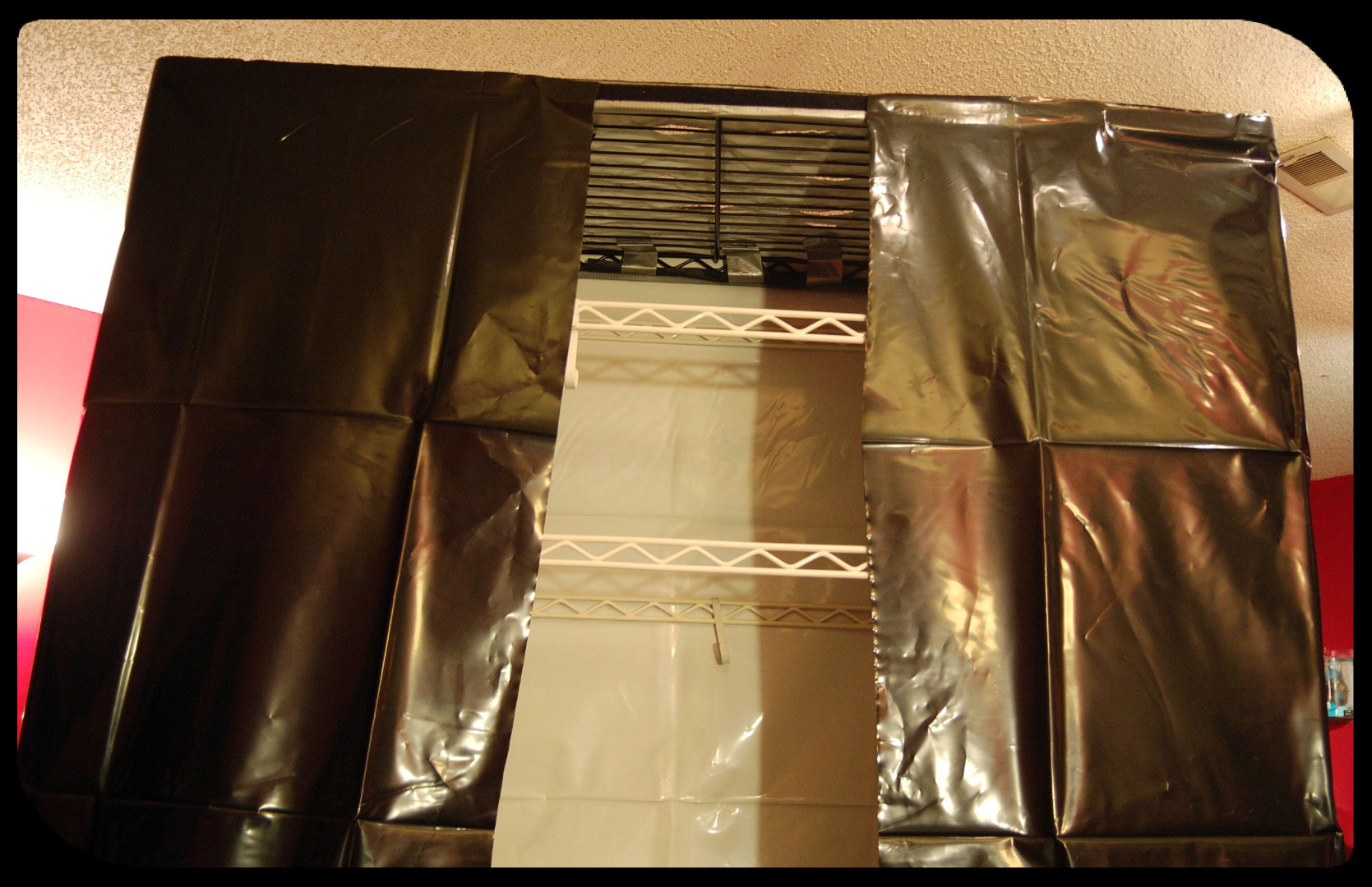 Picture of The Basic Hydroponics Setup Part 4 - Reflective Covering - the Sides