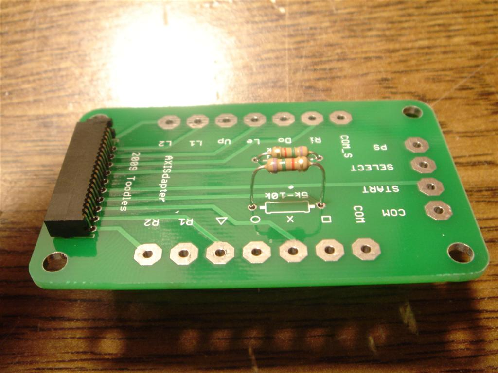 Picture of FPC Connector and Resistors