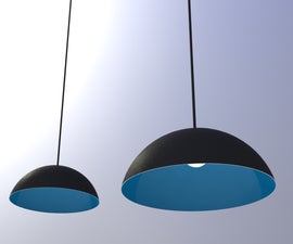 How to make a big suspension lampshade
