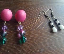 Easy beady earrings