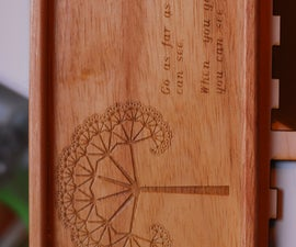 Laser-etched wooden servers plates(?)