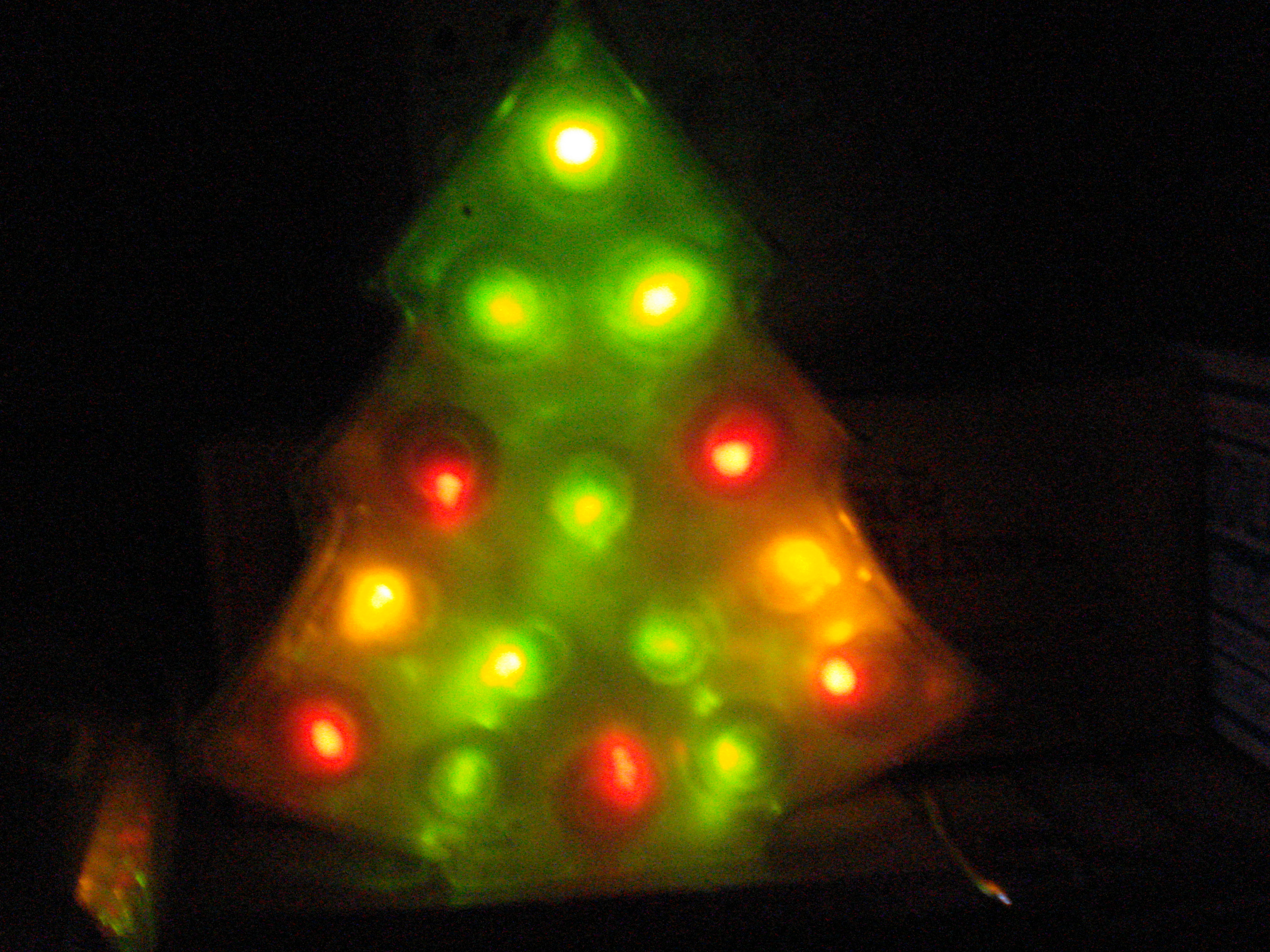 Picture of LED Christmas Tree Lamp...from a Ferrero Chocolate Box!