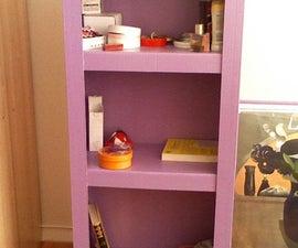 Cardboard book shelves, like a carpenter