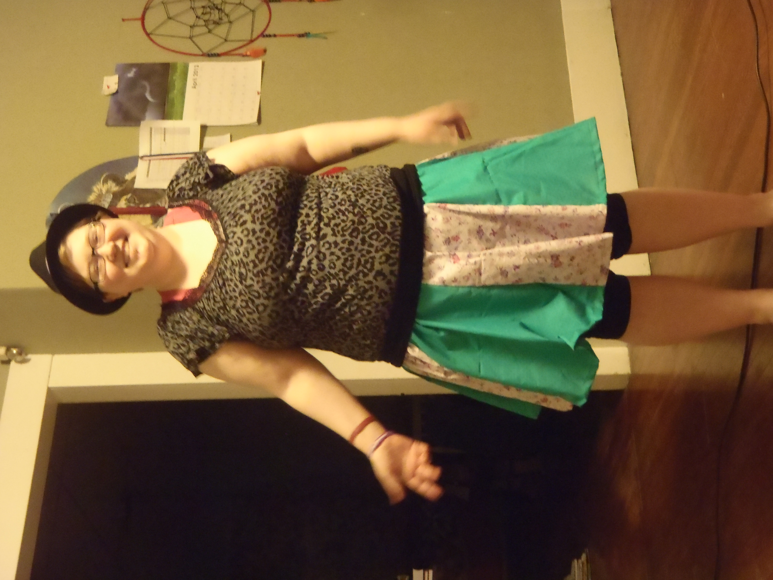 Picture of Gored Skirt With 2 Fabrics.