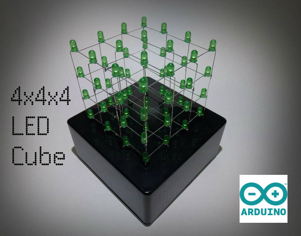 Picture of 4x4x4 LED Cube (Arduino Uno)