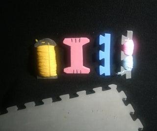 Yarn Spools From Rubber Floor Mats