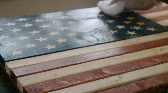 Picture of Rustic Wooden American Flag Build