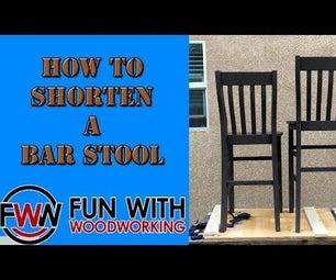 How to Shorten a Bar Stool
