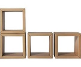 Cardboard Bookshelf 'Elements'