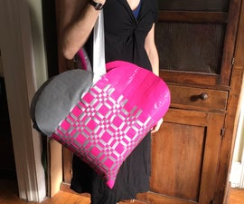 Duck Tape Woven Heart Beach Bag