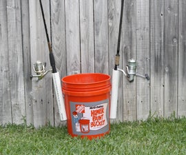 How to make a bait-bucket rod holder