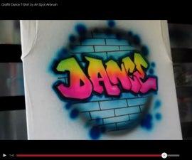 Graffiti Airbrush Dance Tshirt