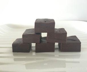 Quick 3 Ingredient Dark Chocolate Fudge