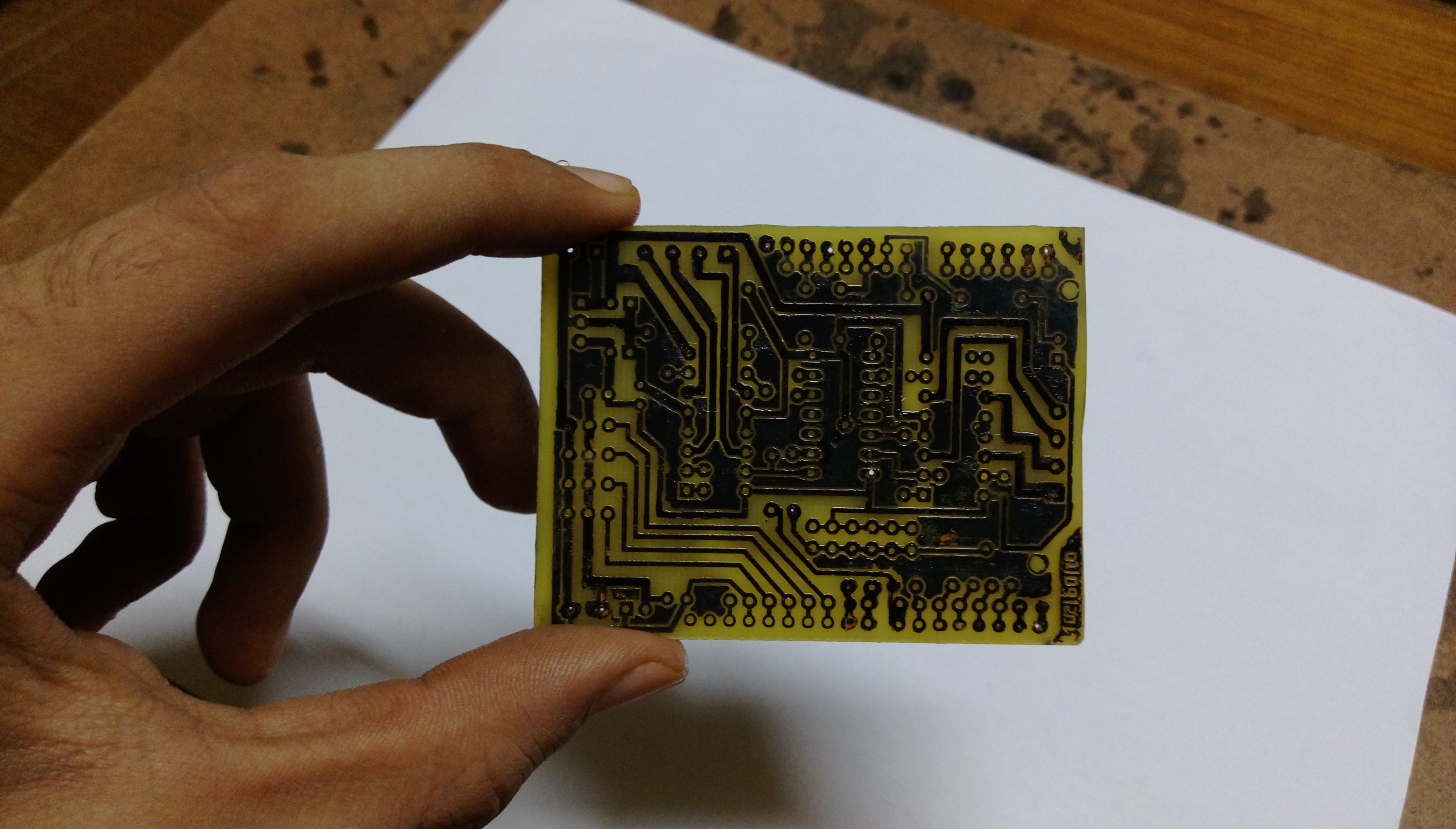 Picture of Etching the Board