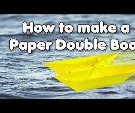How to Make a Paper Double Boat for Kids