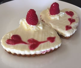 White Chocolate and Raspberry Cheesecakes for Two!