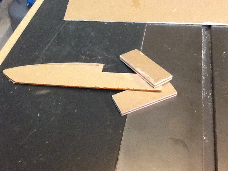 Picture of Cut Your Scrap Pieces to Uniform Size and Glue Them Together.