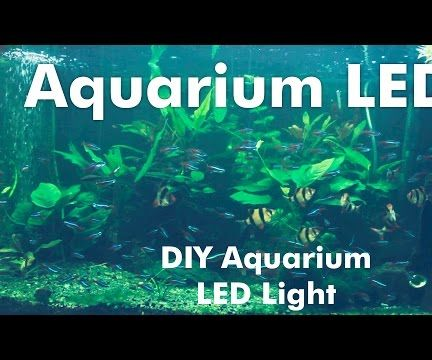 diy aquarium led light 9 steps with pictures