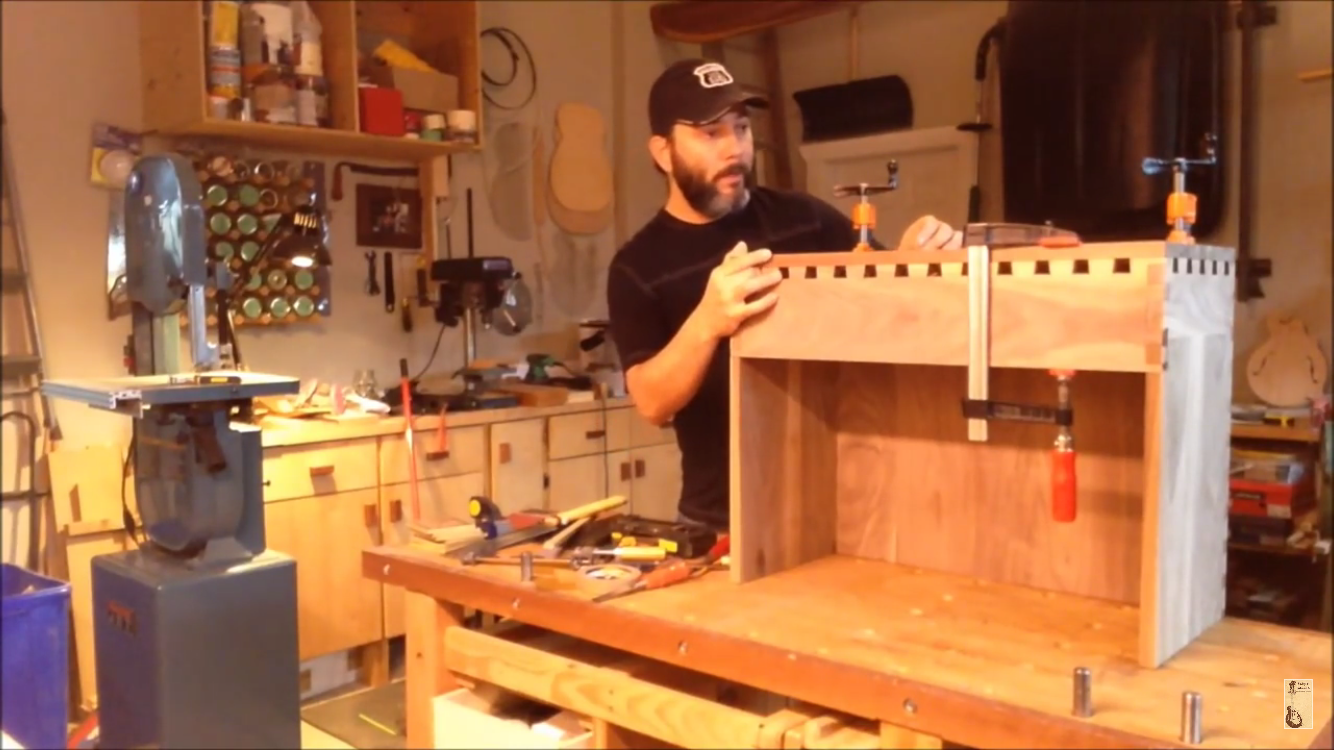 Picture of Initial Assembly and Dovetails.