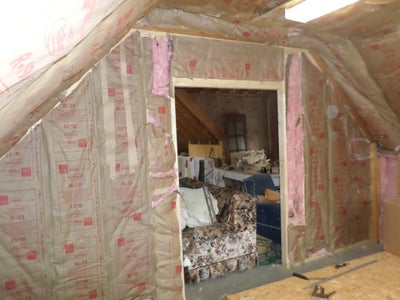 Ceiling Insulation and End Wall