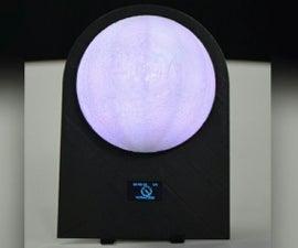 3D Printed Moon Clock