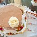 Gluten free chocolate cake with sea salt dark chocolate flavoured swiss meringue buttercream