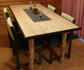 Tree leg dining room table