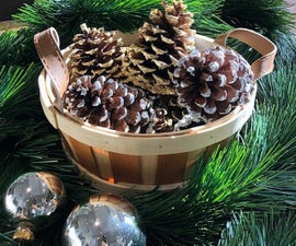 Gilded Pine Cones for Your Holiday Decor