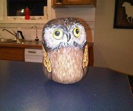 Owl Rock Door Stopper/Garden Decoration