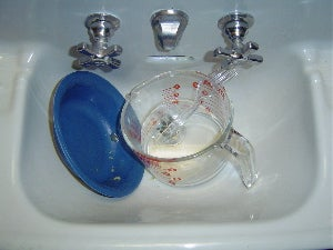 When You're Done, Put Everything in the Sink and Hope Your Roommate Takes Care of It.