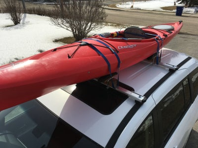 Attach Kayak Saddle Rack to Rails and Load the Kayak