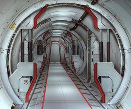 Futuristic Space Door