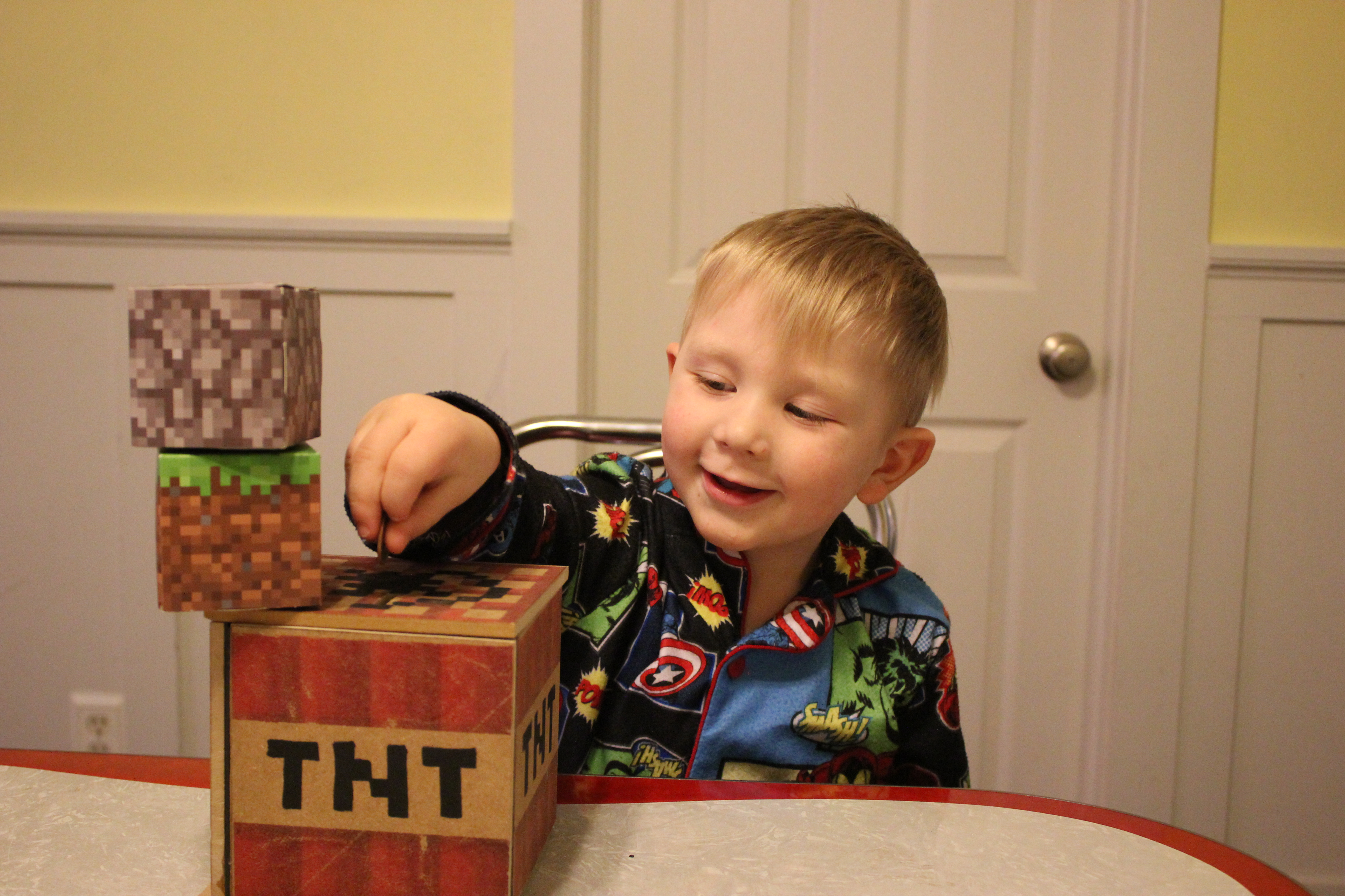 Picture of Minecraft Exploding TNT Prank Bank (Wood Printer Image Transfer)