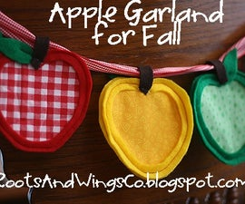 How To Make An Apple Garland For Fall Or Back To School
