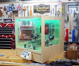 3D Printer Enclosure With Lights