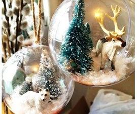 Snow Globe Ornaments- Arctic Theme