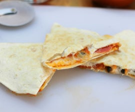Pizza Quesadillas!