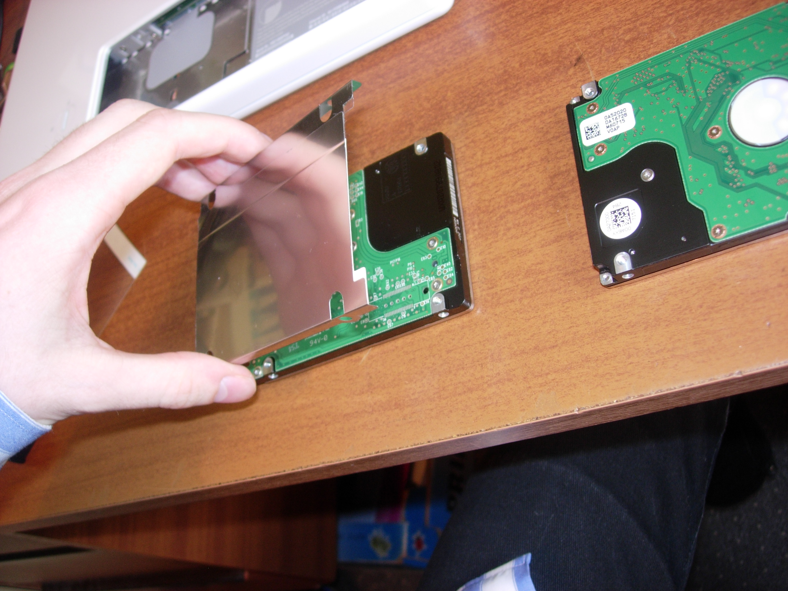 Picture of Putting the Hard Drive in