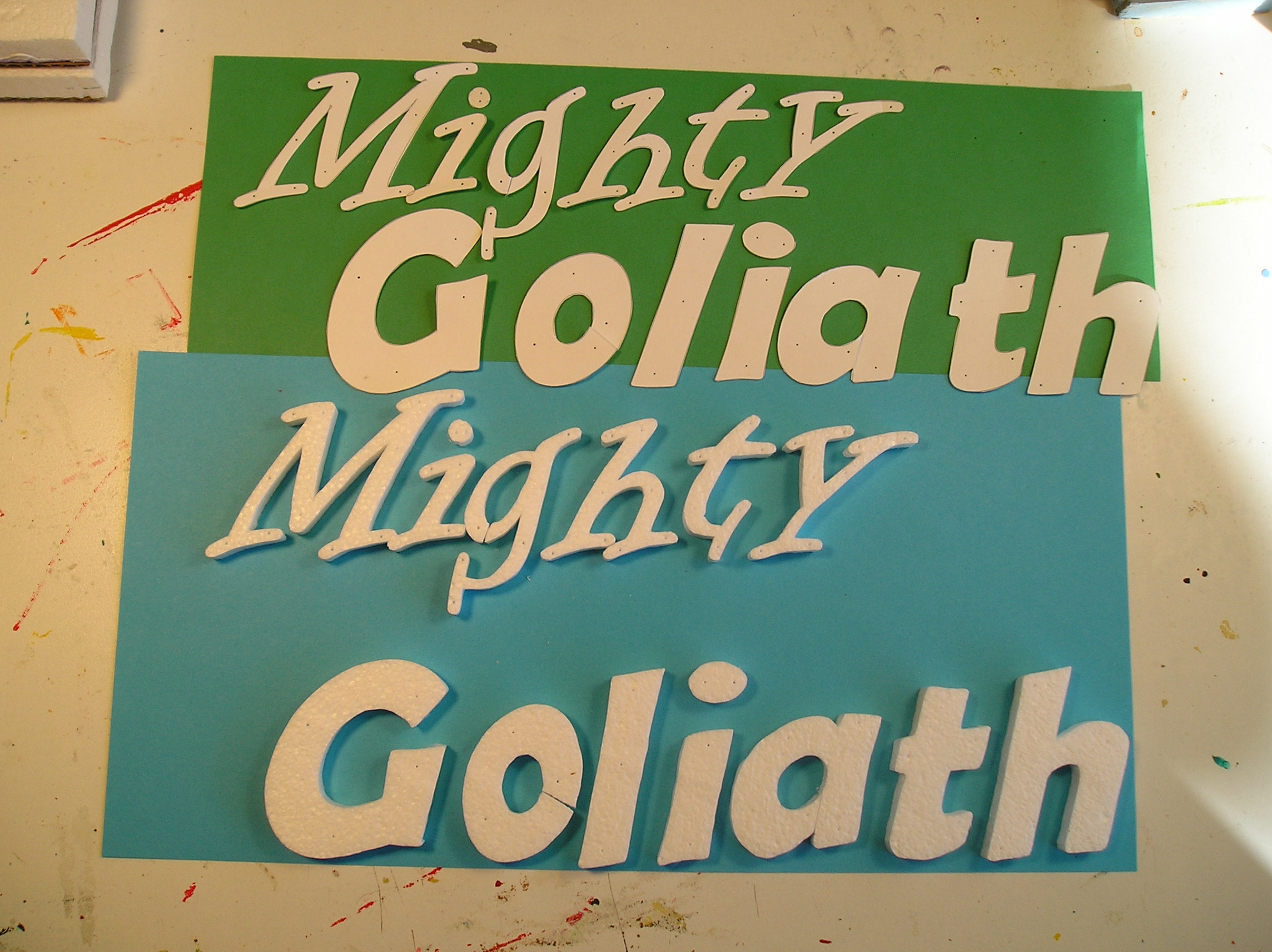 Picture of Cutting Stencil for Painting on Name