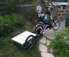 Electric Semi-recumbant Bicycle, w/ Battery Trailer